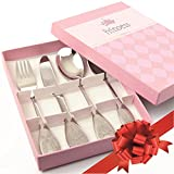 Korko - Kids Cutlery Set Princess Stainless Steel Flatware For Children, Babies, Toddlers and Preschoolers - LIMITED TIME OFFER