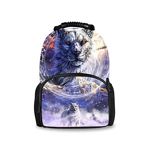 YongColer Wolf Constellation Daypack with Smooth Zippers, Travel and Sport Backpack Rucksack Big Capacity Casual College School Daypack Anti-Theft Multipurpose for Teen Girl Boy