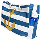 Best Beach Bags - Beach Bag XL, Waterproof Lining, Travel Tote Bag Review