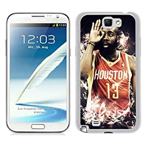 Fashionable Samsung Galaxy Note 2 N7100 Case ,Unique Designed With Houston Rockets James Harden 4 white Samsung Galaxy Note 2 N7100 Cover High Quality Phone Case
