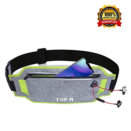 Running Belt for Women & Men Waist Pack Belt Lightweight Adjustable Waistband Running Waist Packs waterproof Waist Pouch Sport Accessories Waist Pack Belt Bag Travel Pouch for iPhone X 6 7 8 Plus Review