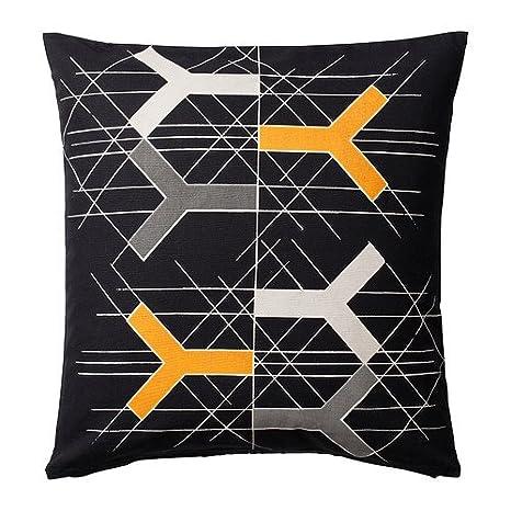 IKEA BJORNLOKA FIGUR - Funda de cojín, negro - 50x50 cm ...