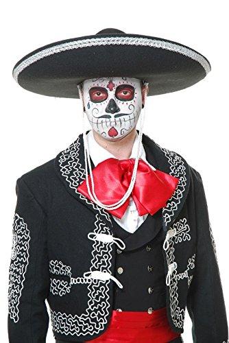 Mariachi Costume Man (Charades Promo CH61041V Black Mariachi Sombrero)