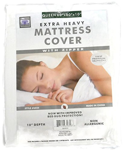 Zippered Plastic Mattress Cover - 1