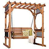 Backyard Discovery Deluxe Cedar Pergola Swing Deal (Small Image)