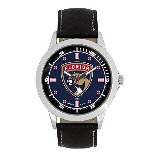 - NHL Florida Panthers Mens Player Series Wrist Watch, Silver, One Size