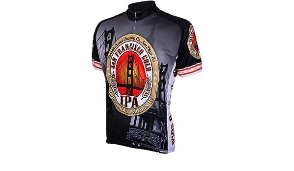 Amazon.com   San Francisco Gold IPA Mens Cycling Jersey Bike Bicycle    Sports   Outdoors 3ae0585a5