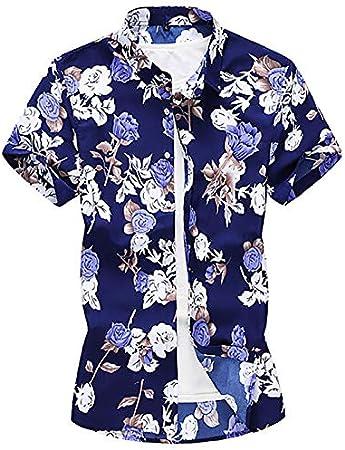 IYFBXl Camisa de Talla Grande para Hombre - Cuello de Camisa ...