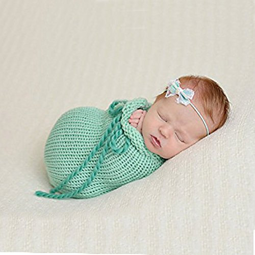 Knitted Beanie Hat Pattern (Newborn Baby Crochet Knitted Photo Photography Prop Costume Hat Beanie Wrap NEW)