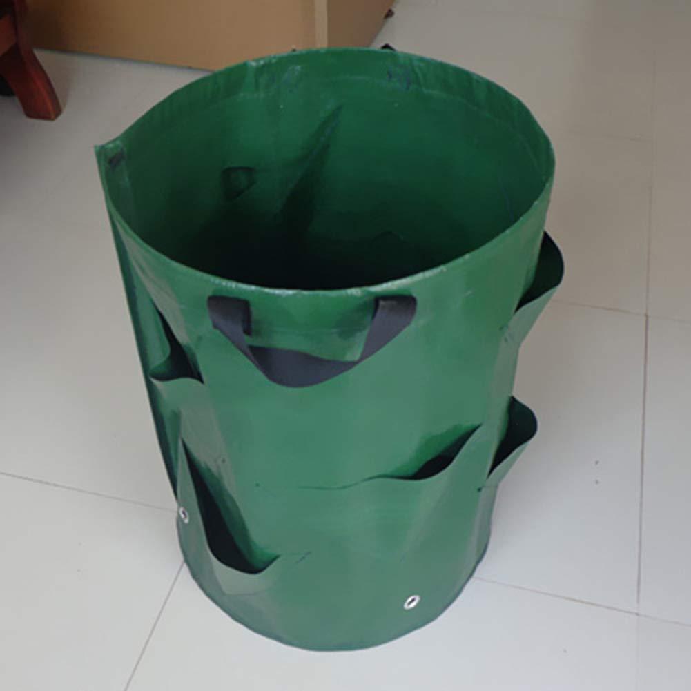 LJXiioo Borsa per rifiuti da Giardino - Sacco per rifiuti Pesanti Sacco per rifiuti della Spazzatura con Manici (55L),5pcs