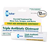 Triple Antibiotic First Aid Ointment, 1 Oz. (Compare to Neosporin Active Ingredients) (12 Tubes)