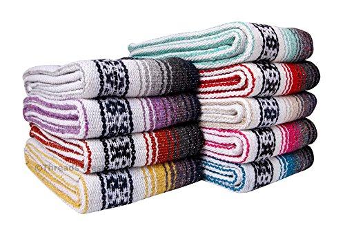 (Threads West Premium Mexican Falsa Beach Blanket, Serape Stripe Beach Blanket (Random))