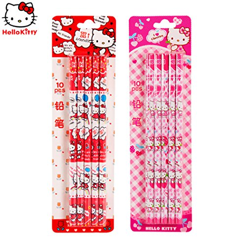 Hello Kitty's Wood-cased Pencils - # HB - Round Pole -10 / Box(Color Random)
