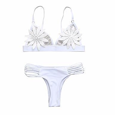 c10063027ad Sunenjoy Maillot de Bain 2 Pieces Femme Push Up, Bikini Original Bikini  Bresilien String +