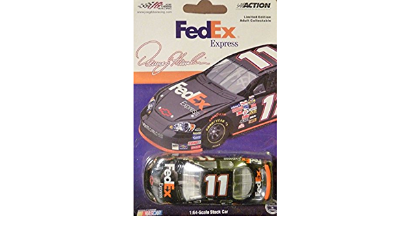Individually Serialized Denny Hamlin #11 2006 FedEx Express Monte Carlo SS 1:24 1//24 Scale Die Cast Car With Yellow Rookie Stripes on Bumper Hood Opens Trunk Opens HOTO Motorsports Authentics AKA Action Racing Collectables