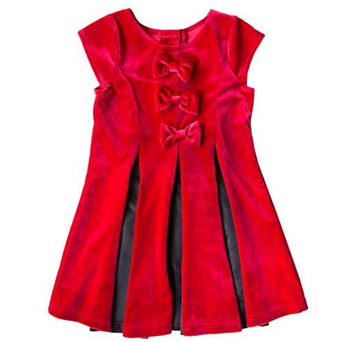 6x Girls Velvet Dress - 8