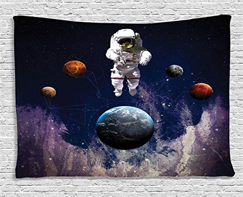 Tapestry Ambesonne Astronaut Satellite Eternity