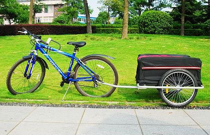 i10Direct Steel Bike Cargo Trailer Bicycle Trailers Cart Carrier