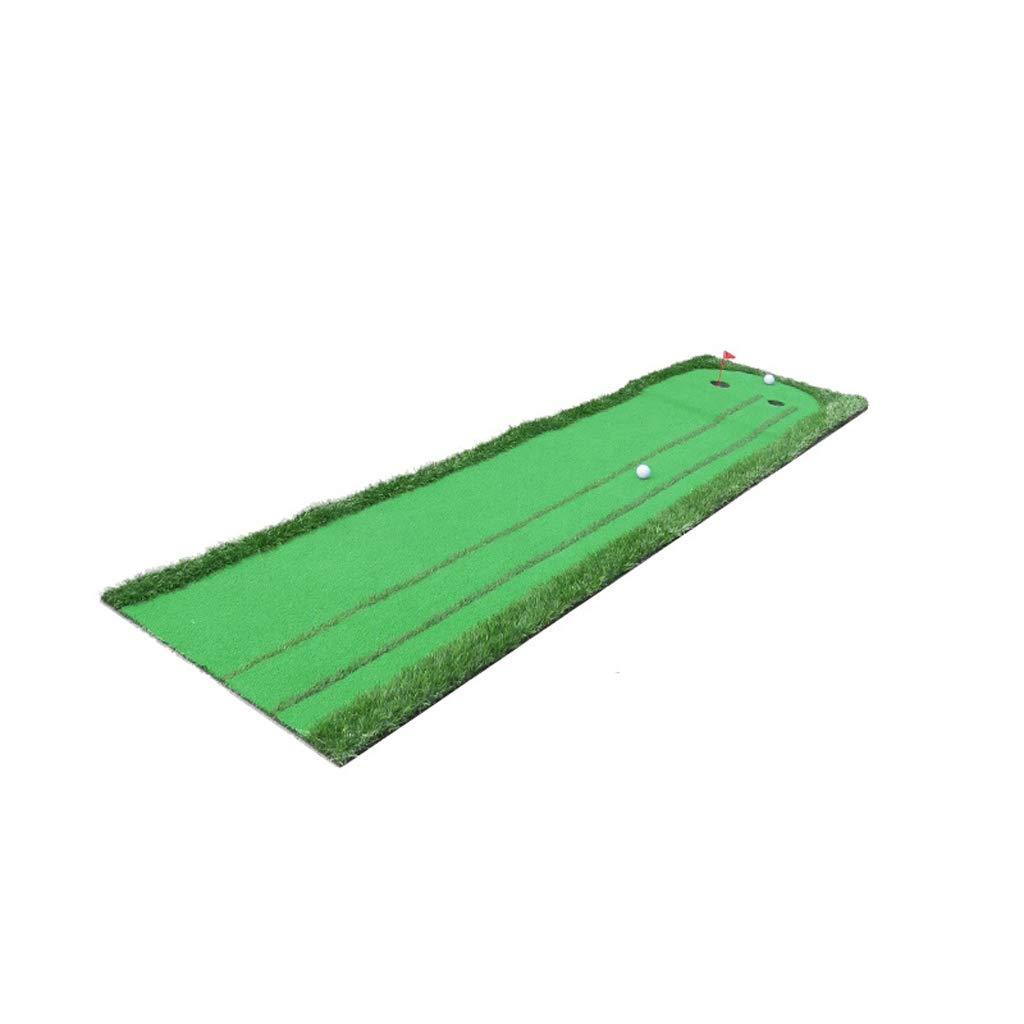 ゴルフパットプラクティスホーム屋内ゴルフマット、75 * 300cmスロープボールパッド付き二元プラクティスブランケット