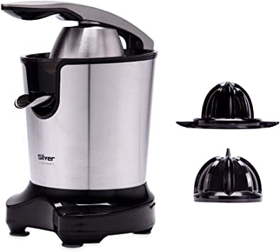 NEW CHEF Juicer Silver Negro 300W