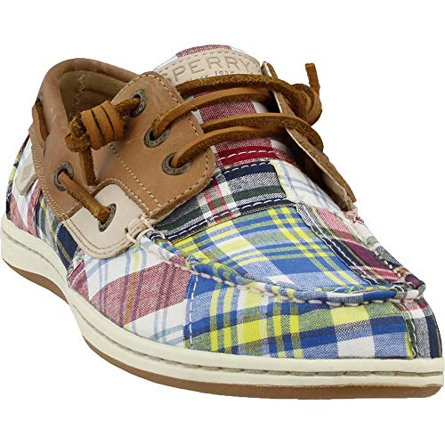SPERRY Women's Songfish Prep Navy Multi/Tan/Madras 6 M US (Womens Size 6 Sperry)