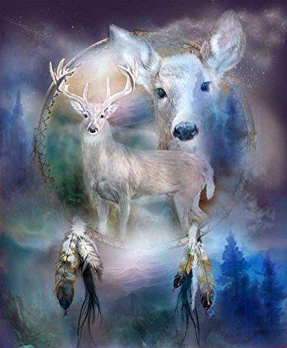 Taloyer DIY Deer 5D Diamond Rhinestone Painting Cross Stitch Kit Mosaic Home Decor Crafts