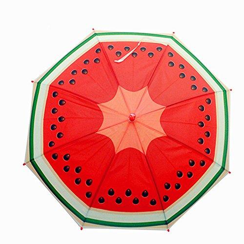 URToys Fruit Pattern Creative Children Cute Cartoon Watermelon Umbrellas Student Boys Girls Kids Umbrella Automatic Long-handle Rainy Umbrella Children's Day Gift