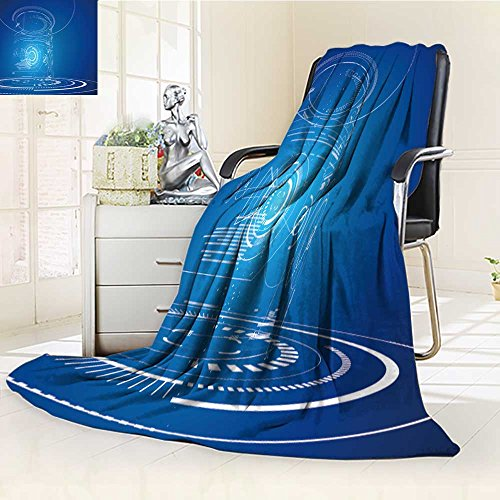 SOCOMIMI Luminous Microfiber Throw Blanket futuristic three dimensional interface abstract graphic design Glow In The Dark Constellation Blanket, Soft And Durable Polyester(60