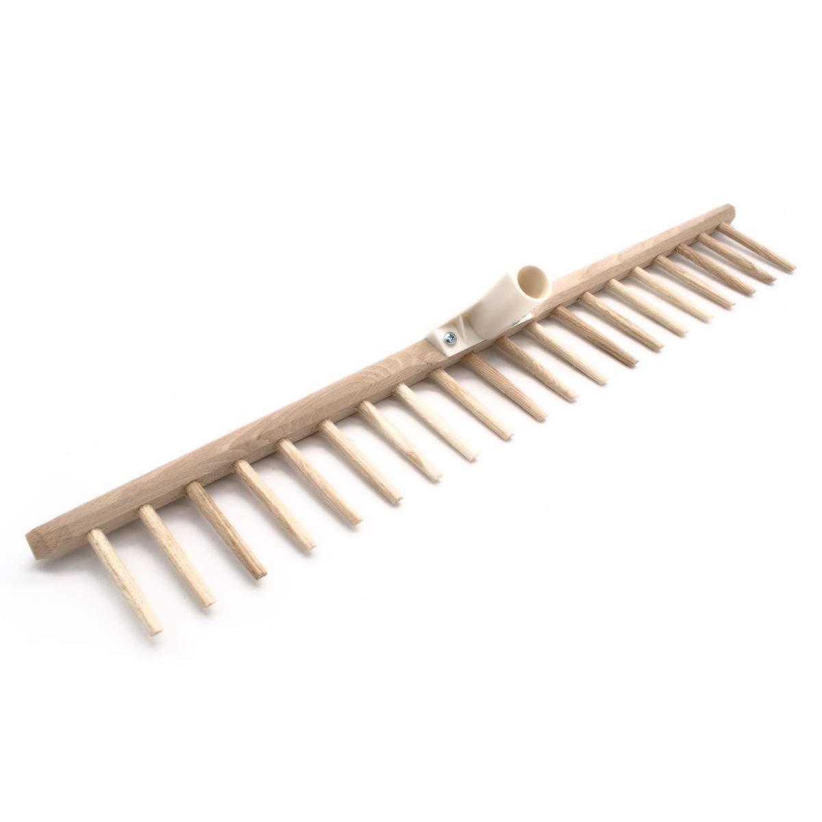 kompatibel mit 2,7 cm Stiel 4betterdays Heurechenhaupt mit Holzzinken Verschiedene Gr/ö/ßen erh/ältlich Made in Austria 67 cm Rechenhaupt mit 20 Zinken