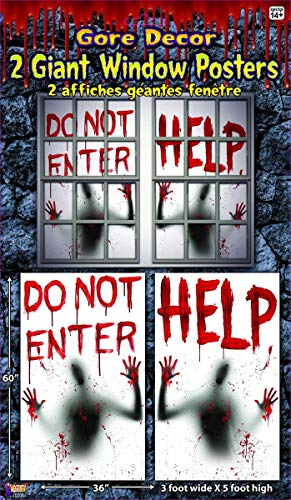 Forum Novelties 2 Piece Giant Bloody Window Posters Halloween Party -