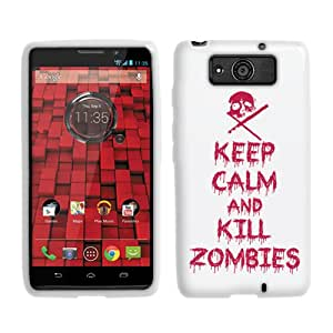 Fincibo (TM) Protector Cover Case Silicone Skin Soft TPU Gel For Motorola Droid Ultra XT1080 - Keep Calm and Kill Zombies