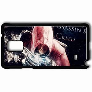 taoyix diy Personalized Samsung Note 4 Cell phone Case/Cover Skin Assassin S Creed Abstract Wallpaper Black