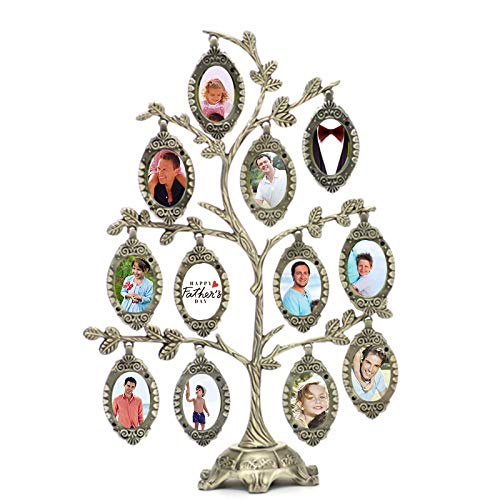 think about your life Family Photo Frame Tree Picture Frame Decorative Table Top for Holiday …