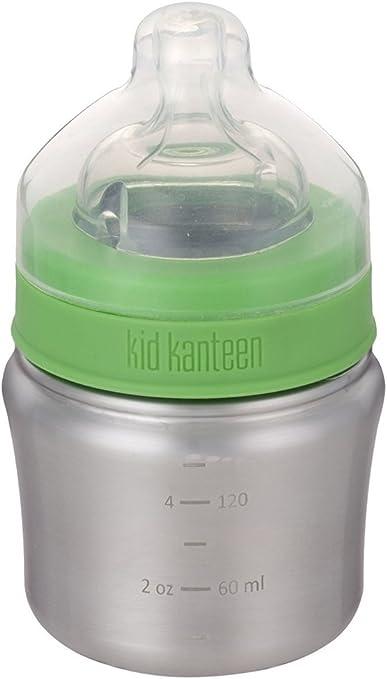 Klean Kanteen Kids 5oz Baby Bottle Slow Flow Brushed Stainless Bottle