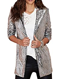 Amazon.com: Silver - Blazers / Suiting & Blazers: Clothing, Shoes ...