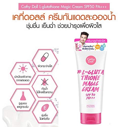 Cathy Doll Whitening Sunscreen 60ml- L-Glutathione Magic Cream SPF 50 PA+++ - the next level of sunscreen protection moves beyond mere protection against the sun and UV rays