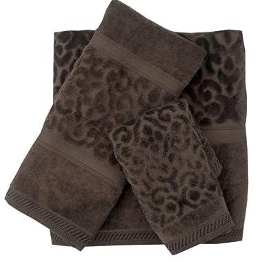 Veratex Regency Damask Towel 6-Piece Set, Chocolate