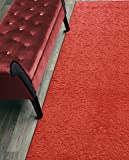 Custom Size Hallway Runner Rug Non-Slip (Slip Resistant) Rubber Back, Anti-Bacterial, 31 Inch Wide x Your Choice of Length Size 11 Color Options, Diamond Collection, Bright Red, 31 inch X 12 feet