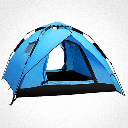 パワー販売員エスニック自動ポップアップテント3-4人キャンプテント のテント (色 : ローズレッド, サイズ さいず : Spring)