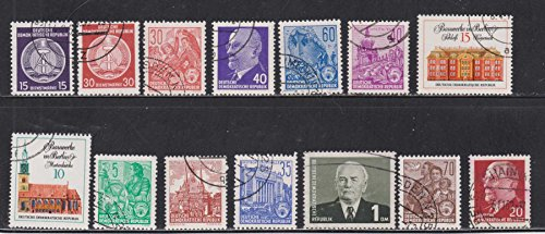 German Democratic Republic Houses Men Buildings Jobs DDR Postage Stamps