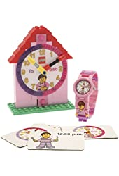 LEGO Time Teacher Pink Set with Plastic Watch, Constructible Clock and Activity Cards 9005039