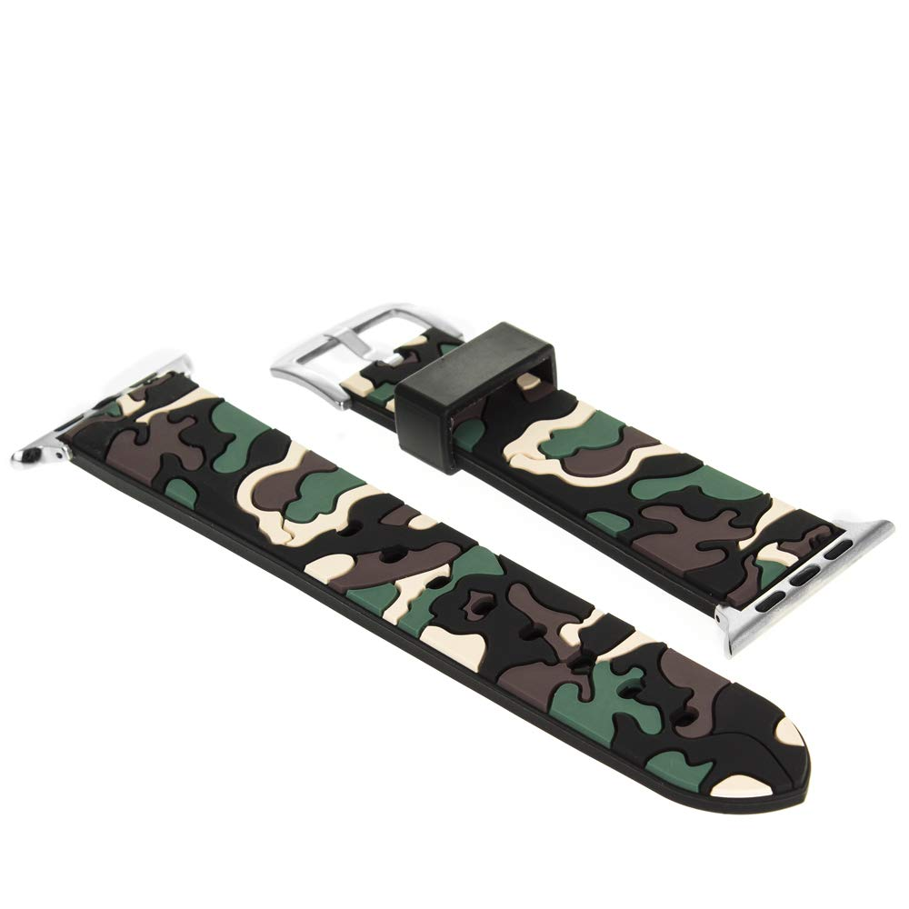 DAM DMX193CAMO - Correa de Camuflaje para Apple Watch (38 mm) Color Verde