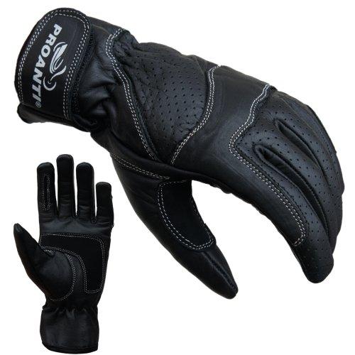 PROANTI Damen Motorradhandschuhe Damen Leder Motorrad Handschuhe