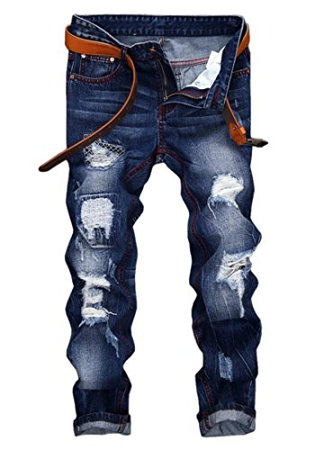 Men%27s+Ripped+Distressed+Jeans+Blue+31