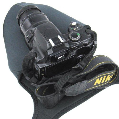 Travel Neoprene Camera Case Bag soft Protector for Canon EOS 4000D 2000D, 200D 100D,1200D 1300D,800D,750D 700D 650D 600D 550D,SX430 SX50 SX540, Nikon D3400,D810,D7100,D7000,D5300 D5600 D5500,D3300,D3200,D3100,FUJI FinePix , OLYMPUS.Sony Alpha HX200 HX300 HX400 a7,Pentax & more DSLR - Size Medium M.