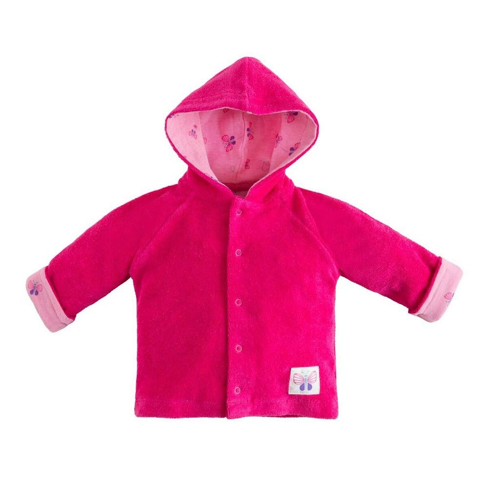 Under the Nile Organic Cotton Beetroot Baby Girl Terry Snap Front Hoodie (3-6m) by Under the Nile