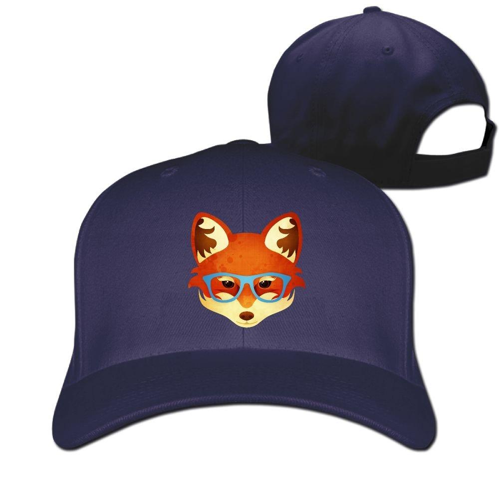 NaNa Home Unisex Fox Head With Glasses Peaked Baseball Cap by NaNa Home