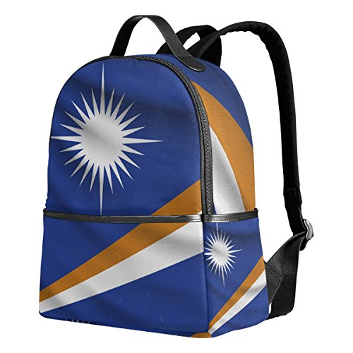 (Marshall Islands Flag Unisex Rucksack Canvas Satchel Casual Daypack,School College Student Backpack)