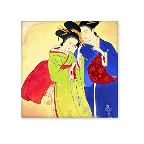 free shipping Ukiyoe Traditional Japanese Style Female Whisper ...