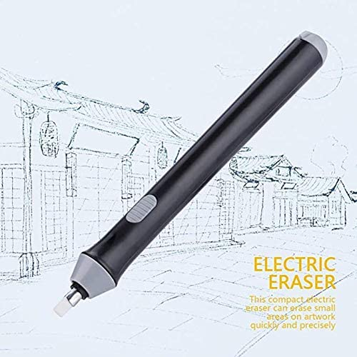 Battery Operated Eraser for Sketching Drawing Pencils//Pentel Drafting Pencil//Graphite Pencils//Arts//Craft 180 Refills Battery Powered Eraser Electric Eraser for Artists Drafting Brush